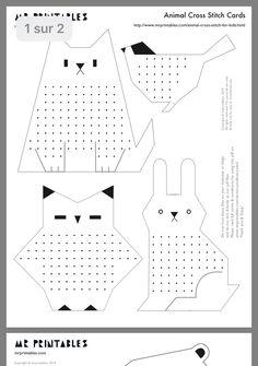 Cross stitch animals - by Craft & Creativity Cross Stitch Cards, Cross Stitch Animals, Cross Stitching, Cross Stitch For Kids, Diy Crafts For Kids, Art For Kids, Arts And Crafts, Paper Crafts, Spring Activities