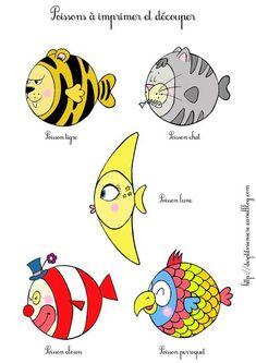 Ptits poissons rigolos à imprimer !