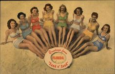 Greetings from Florida Land o' Sand Swimsuits & Pinup