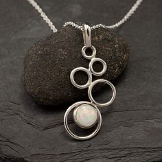 Opal Necklace Opal Pendant Sterling Silver Necklace with