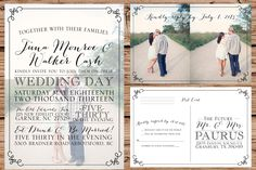 Custom Photo Wedding Invitation with by OliveJuiceStationery