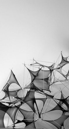 Tensile Membrane / Surface Exploration by Yoshinaga Hiroshi (ryanpanos.tumblr.com)