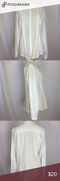 Calvin Klein 100% Cotton. Machine Washable. Sheer. Calvin Klein Tops Button Down Shirts