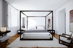 This post may contain Amazon affiliate links and as an Amazon Associate I earn from qualifying purchases.When you think of a canopy bed, what do you imagine? Many men balk at the thought of a canopy bed as they seem like a relic of the past or strictly for young girls' bedrooms. However the truth… Zen Bedroom Decor, Canopy Bedroom, Canopy Beds, Ikea Canopy, Door Canopy, Fabric Canopy, Canopy Design, Bed Design, White Bedrooms
