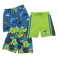 I can't decide whether to get their swim trunks matching or coordinating.  Maybe both.