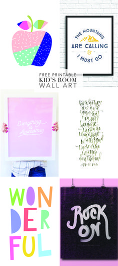 We've put together our favorite free printables you can use for wall art in your kid's rooms. From modern to old-school, we've got you covered.