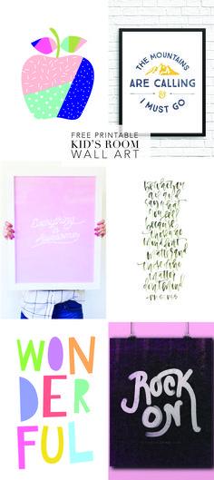 free printable wall art for kids rooms - Printable Art For Kids