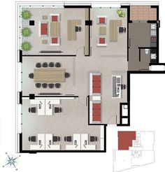 Office Floor Plan, Floor Layout, Office Ideas, Floor Plans, Flooring, How To Plan, Interior, House, Offices