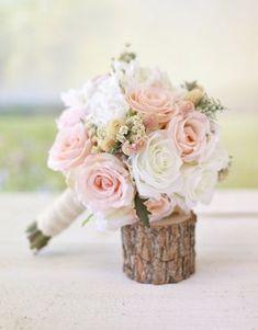 Silk Bridal Bouquet Wildflowers Pink Roses Baby's von braggingbags