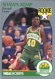 Shawn Kemp-Forward Center Rookie Trading Card No 279 NM 1989-1990 33547a61e