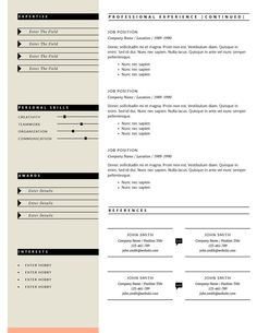 Microsoft Word Professional Letter Template Inspiration Resume Template  Cv Template  Cover Letter & References For Word .