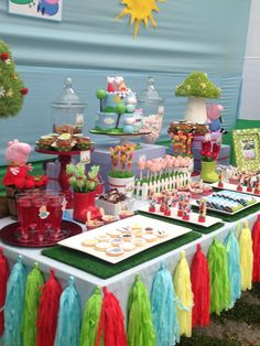 Karen W's Birthday / Peppa Pig - Evys Birthday Peppa Pig Party at Catch My Party 2 Birthday, 4th Birthday Parties, Birthday Ideas, George Pig Party, Cumple Peppa Pig, Party Deco, Party Time, Decoration, Candy Table
