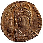 Cashing In On the Silk Road traveled by Marco Polo, gold and silver flowed one way and goods another. A gold Byzantine coin excavated from a Chinese tomb.