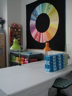 ironing board on top of shelf