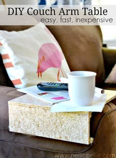 diy arm tray table a great space saving solution for renters and those with small homes!