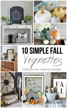 10 simple fall vignettes (looks anyone can create on a budget)