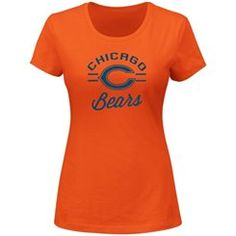 Majestic Chicago Bears Women's Orange Forward Progress III T-Shirt