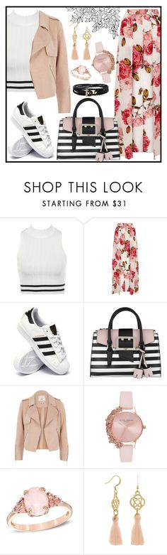 """atypical."" by kaitwillis ❤ liked on Polyvore featuring adidas, GUESS, River Island and Olivia Burton"