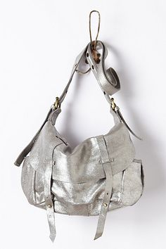 Metallic bag from @Anthropologie