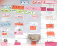 Science TEKS K.7A Observe, describe, compare, and sort rocks by size, shape, color, and texture. (Plano ISD).