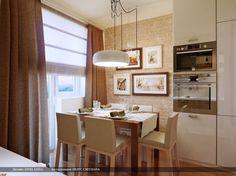 Cortina romântica na cozinha