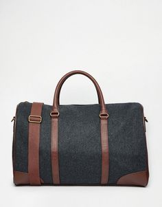 ASOS+Holdall+In+Charcoal+Melton