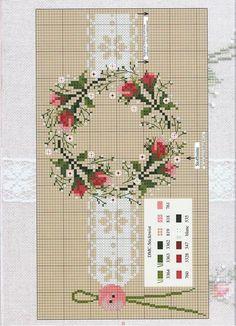 Pillows borders - rose wreath border: