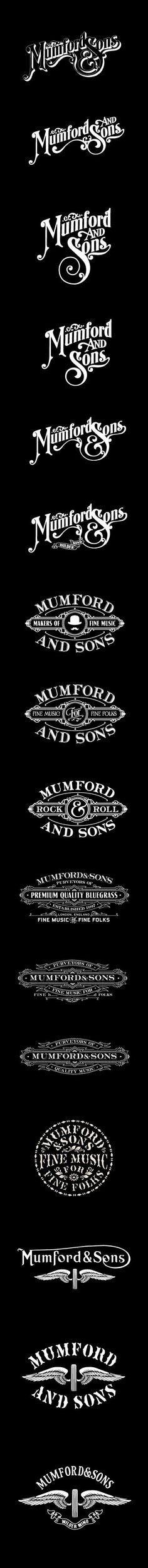 Mumford & Sons on Typography Served