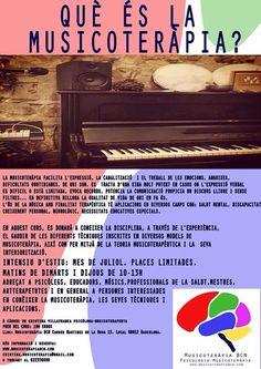 Curso intensivo de verano- julio 2015 ¿Que es la Musicoterapia? #musicoterapiabcn #barridegràcia #julio #2015 #curso