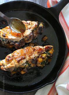 Stuffed Turkey Breasts with Butternut Squash and Figs - (Free Recipe below)