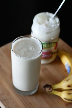 A light, refreshing and nutritious Banana and Coconut Butter smoothie - perfect for a post-workout or in between meal snack!