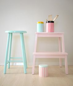 pastel stools