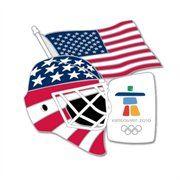 Team USA Hockey 2010 Winter Olympics Goalie Mask Collectible Pin
