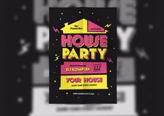 House Party Flyer by lilyshop on @creativemarket
