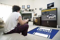 Ford Blue Boss 302 Area Rug