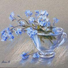 Soft Pastel Art, Pastel Artwork, Bright Paintings, Pastel Flowers, Flower Art Drawing, Pastel Drawing, Art Floral, Illustrations Pastel, Color Pencil Art