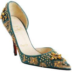 Christian Louboutin helmut satin blue crystal Christian Louboutin Sandals, Christian Louboutin Outlet, Blue Pumps, Blue Shoes, Bridal Shoes, Wedding Shoes, Fashion Shoes, Fashion Accessories, Red Bottom Shoes