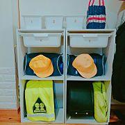 カラーボックス,DIY,ニトリ,ランドセルラック,ランドセル置き場に関連する他の写真