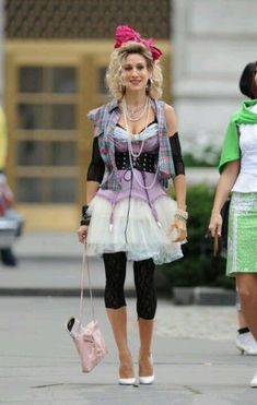 Sarah Jessica Parker gets her Madonna on for the new film… 80s Costume, Costume Ideas, 80s Party Costumes, Power Dressing, 80s Dress, Dress Up, 1980s Fancy Dress, 80s Party Dress, 80s Party Outfits