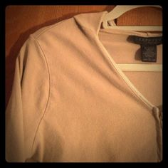 Vintage Express zip up hoodie Vintage Express! Camel color zip up hoodie. Two front pockets. V-neck. Excellent condition! Express Tops Sweatshirts & Hoodies
