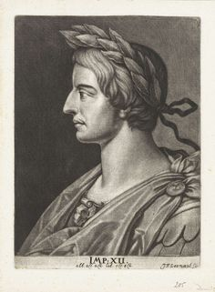 Johann Friedrich Leonard | Portret van keizer Domitianus, Johann Friedrich Leonard, 1643 - 1680 |
