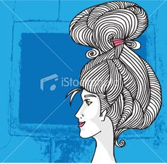 Woman face illustration Royalty Free Stock Vector Art Illustration