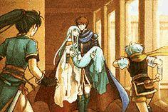 Fire Emblem Online   Blazing Sword   Cut scene artwork