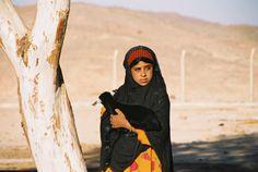 Girl with a goat, Safaga, Egypt