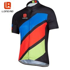 Summer 2017 road bike clothing LONGAO short sleeve cycling tops jersey quick dry breathable cycling clothes bicycle wear