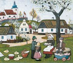 josef lada jaro - Hledat Googlem Naive, Illustrators, Folk Art, Fairy Tales, The Past, Clip Art, Drawings, Artist, Poster