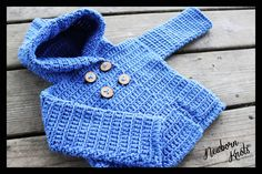 Baby crochet hoodie