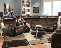 Brown Wrap-Around Couch | Manhattan Espresso Reclining Sectional $1298.00 @ American Freight : wrap around sectional - Sectionals, Sofas & Couches