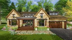 Handsome Rugged Craftsman with Future Space - 14657RK   Architectural Designs - House Plans