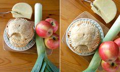 leek, apple, cheese savory hand pies